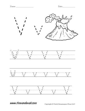 Letter V Worksheets Preschool Alphabet Handwriting Worksheets