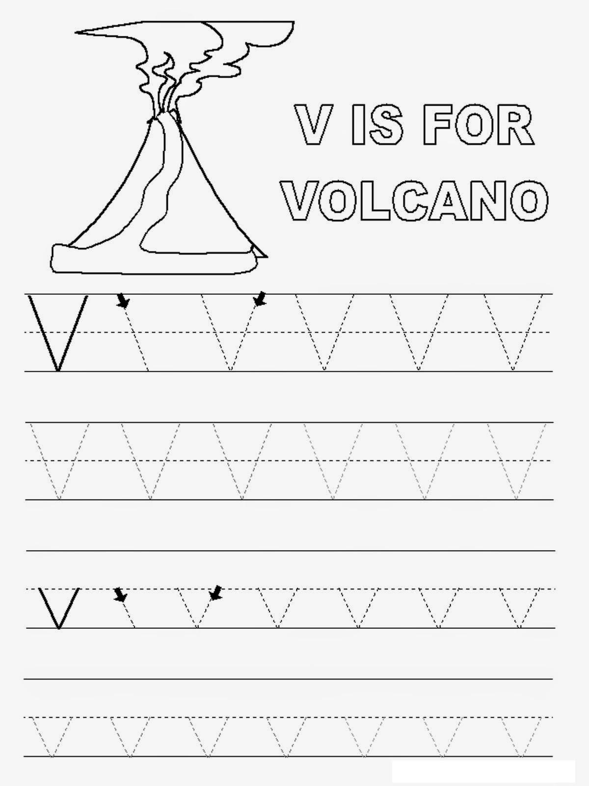 Letter V Worksheets Preschool Letter V Worksheets to Print