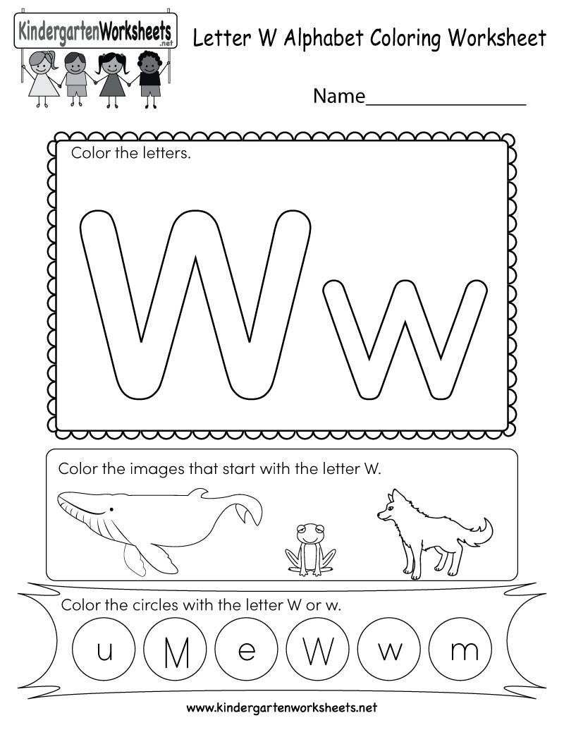Letter W Worksheets for Preschoolers Letter W Worksheets