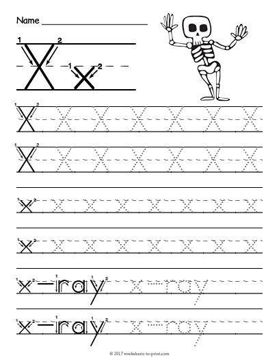 Letter X Worksheets for Kindergarten Free Printable Tracing Letter X Worksheet