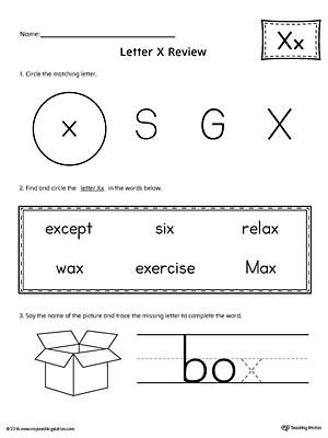 Letter X Worksheets for Kindergarten Learning the Letter X Worksheet