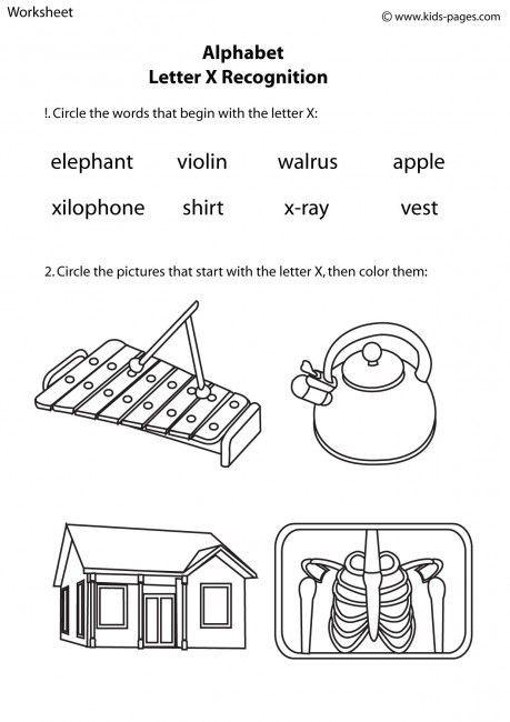 Letter X Worksheets for Kindergarten Letter X Recognition Worksheets
