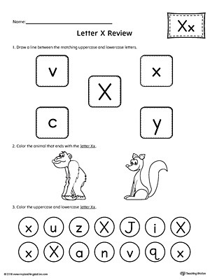 Letter X Worksheets for Preschool All About Letter X Printable Worksheet