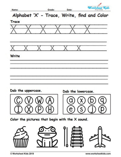 Letter X Worksheets for Preschool Alphabet Letter X Trace Write Find Color Free Printable Pdf