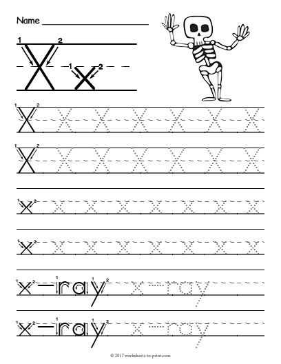 Letter X Worksheets for Preschool Free Printable Tracing Letter X Worksheet