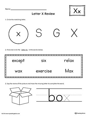 Letter X Worksheets Kindergarten Learning the Letter X Worksheet