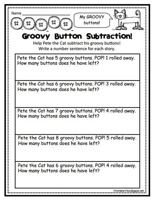 Listening Center Response Sheet Kindergarten 87 Cool Pete the Cat Freebies and Teaching Resources
