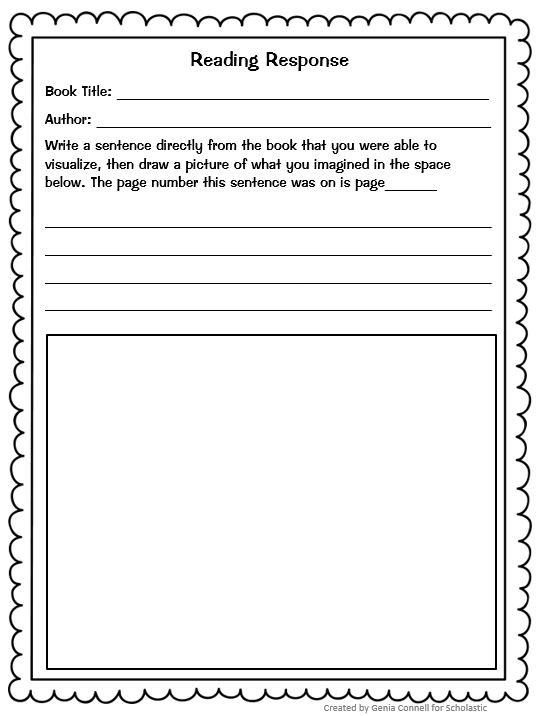 Listening Center Response Sheet Kindergarten Instant Lesson Plans for Any Book Perfect for Substitutes