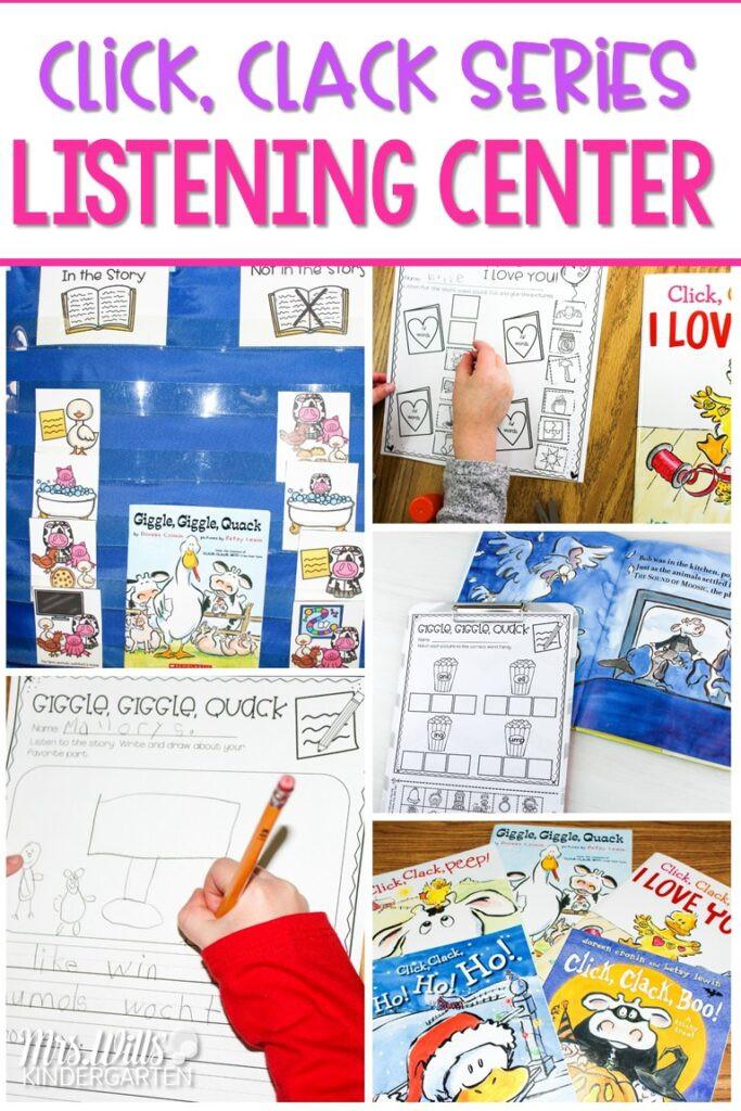 Listening Center Response Sheet Kindergarten Listening Center Activities