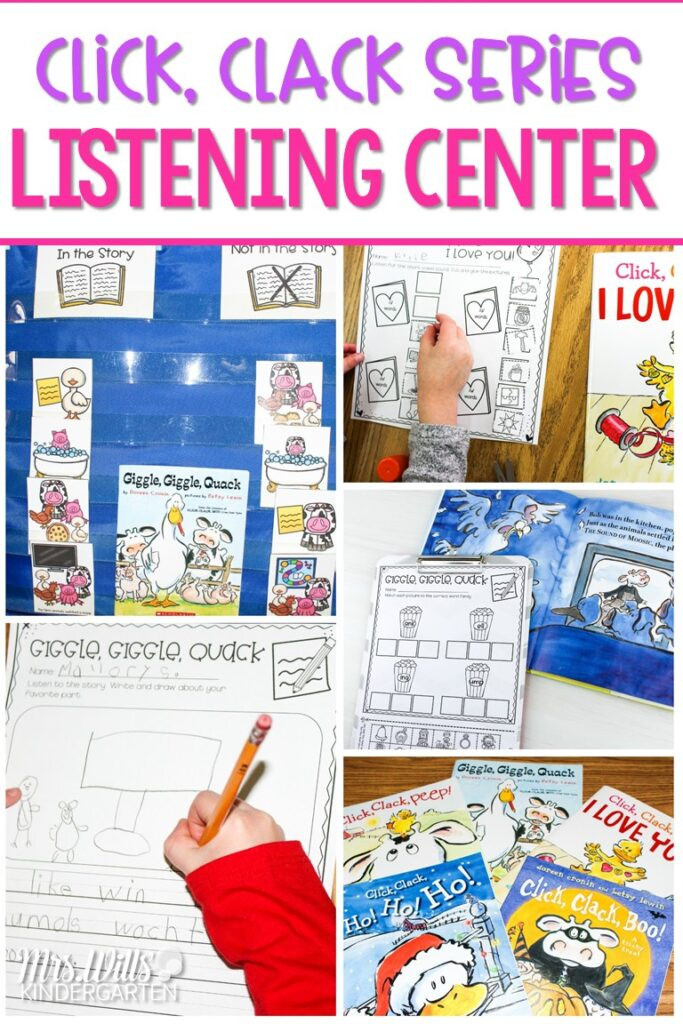 Listening Center Response Sheet Kindergarten Listening Center Activities