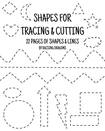 Listening Center Response Sheet Kindergarten Shapes Tracing and Cutting Activity Printable Scissor Skills