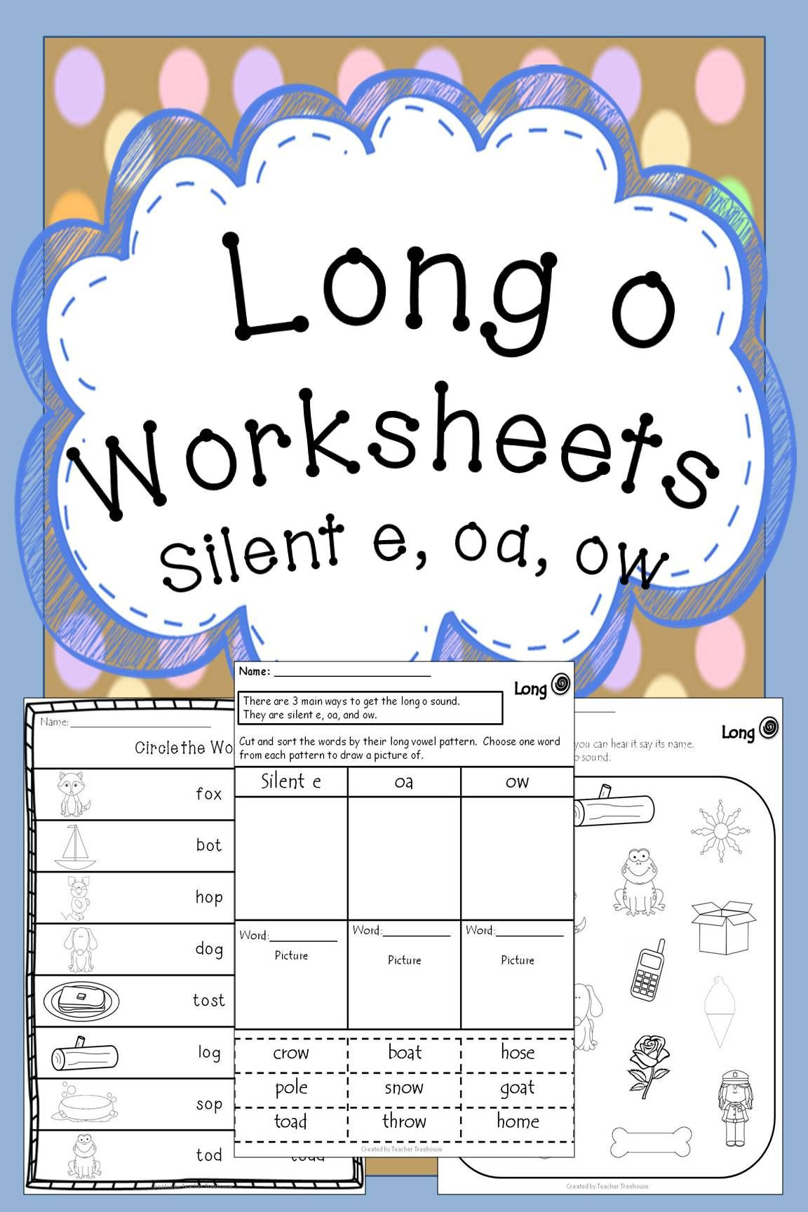 Long O Worksheets 2nd Grade Long O Worksheets Long O Oa Silent E Ow Vowel Teams