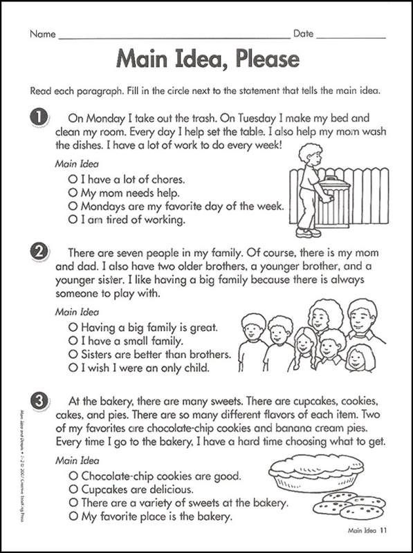 Main Idea 2nd Grade Worksheet Main Idea Graphic organizer Google Search