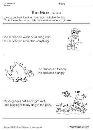 Main Idea 3rd Grade Worksheets Kindergarten Main Idea Worksheets & Worksheets On theme for