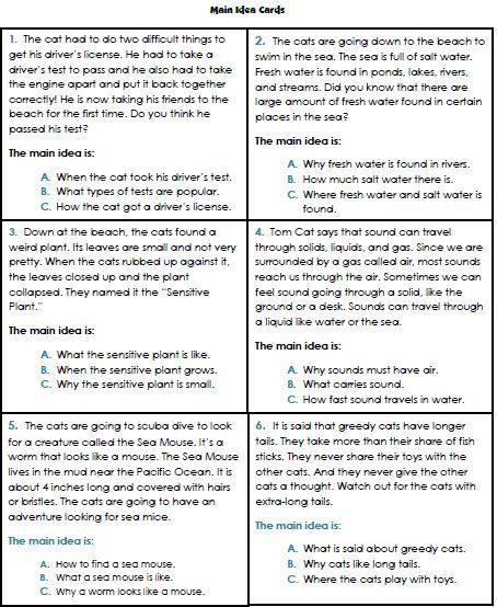 Main Idea 3rd Grade Worksheets Main Idea Worksheets 3rd Grade 1