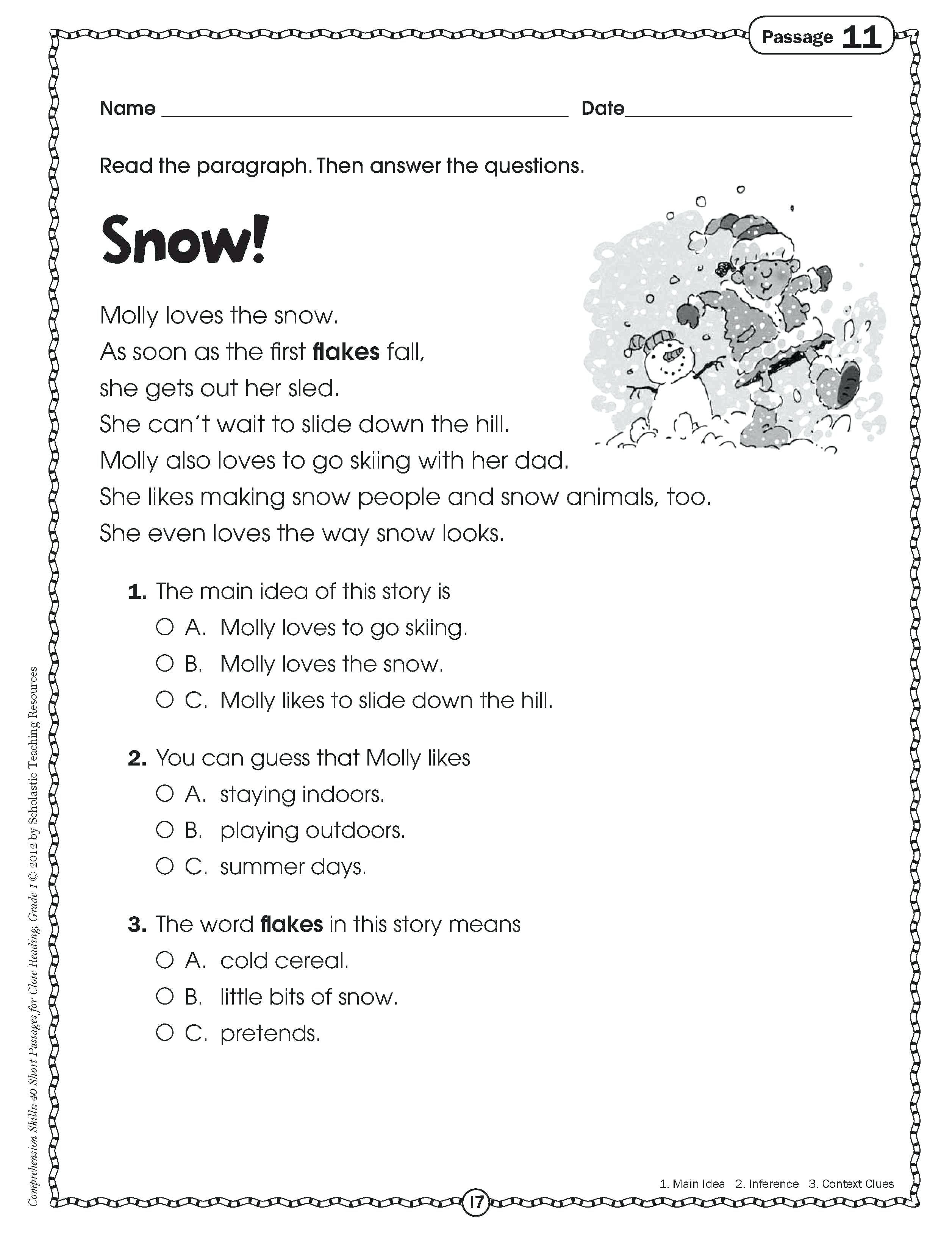 Main Idea Worksheets Grade 1 Main Idea Worksheets 4th Grade to Printable Math Worksheet