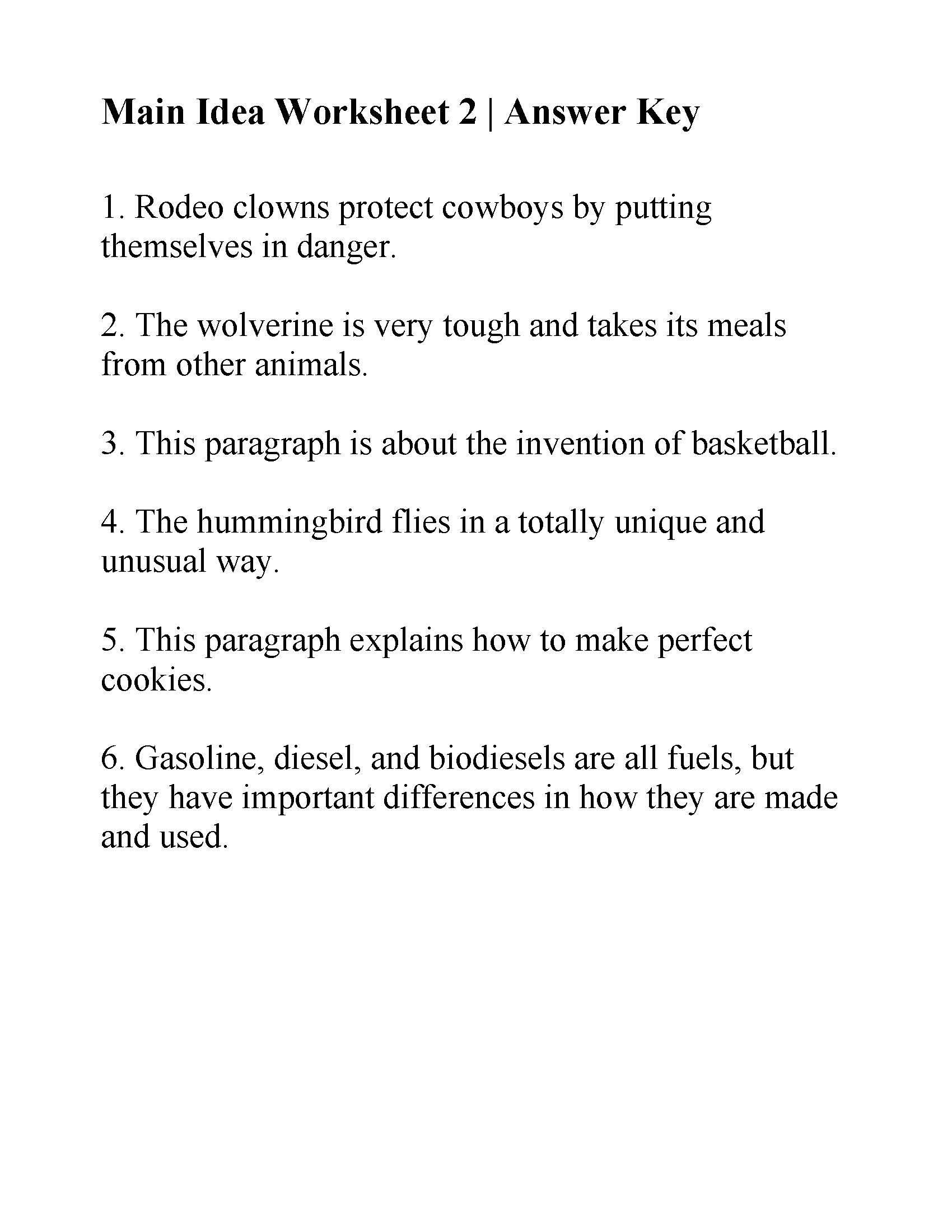 Main Idea Worksheets Third Grade 4 Free Grammar Worksheets Third Grade 3 Capitalization