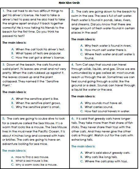 Main Idea Worksheets Third Grade Main Idea Worksheets 3rd Grade 1