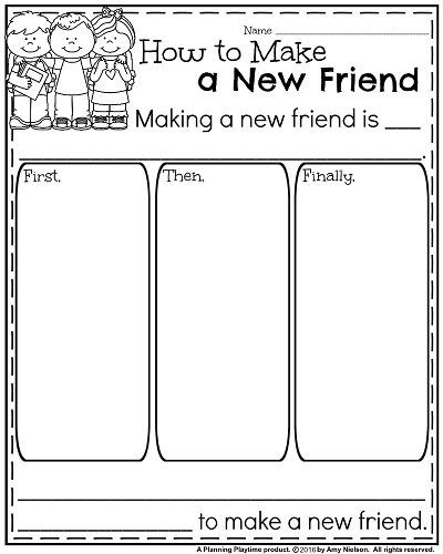 Making Friends Worksheets Kindergarten Back to School Kindergarten Worksheets with Images