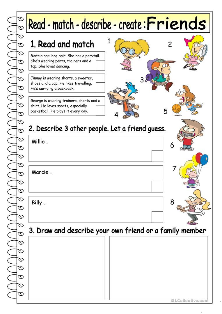 Making Friends Worksheets Kindergarten English Esl Friends Worksheets Most Ed 247 Results