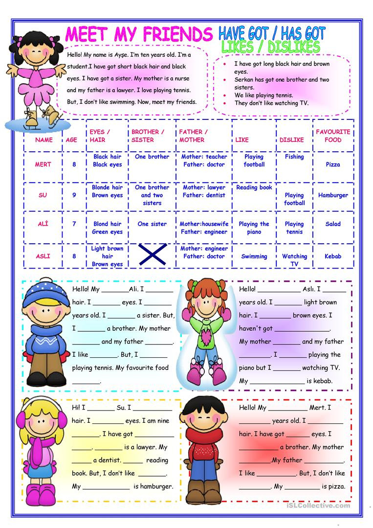 Making Friends Worksheets Kindergarten English Esl Friendship Worksheets Most Ed 50 Results