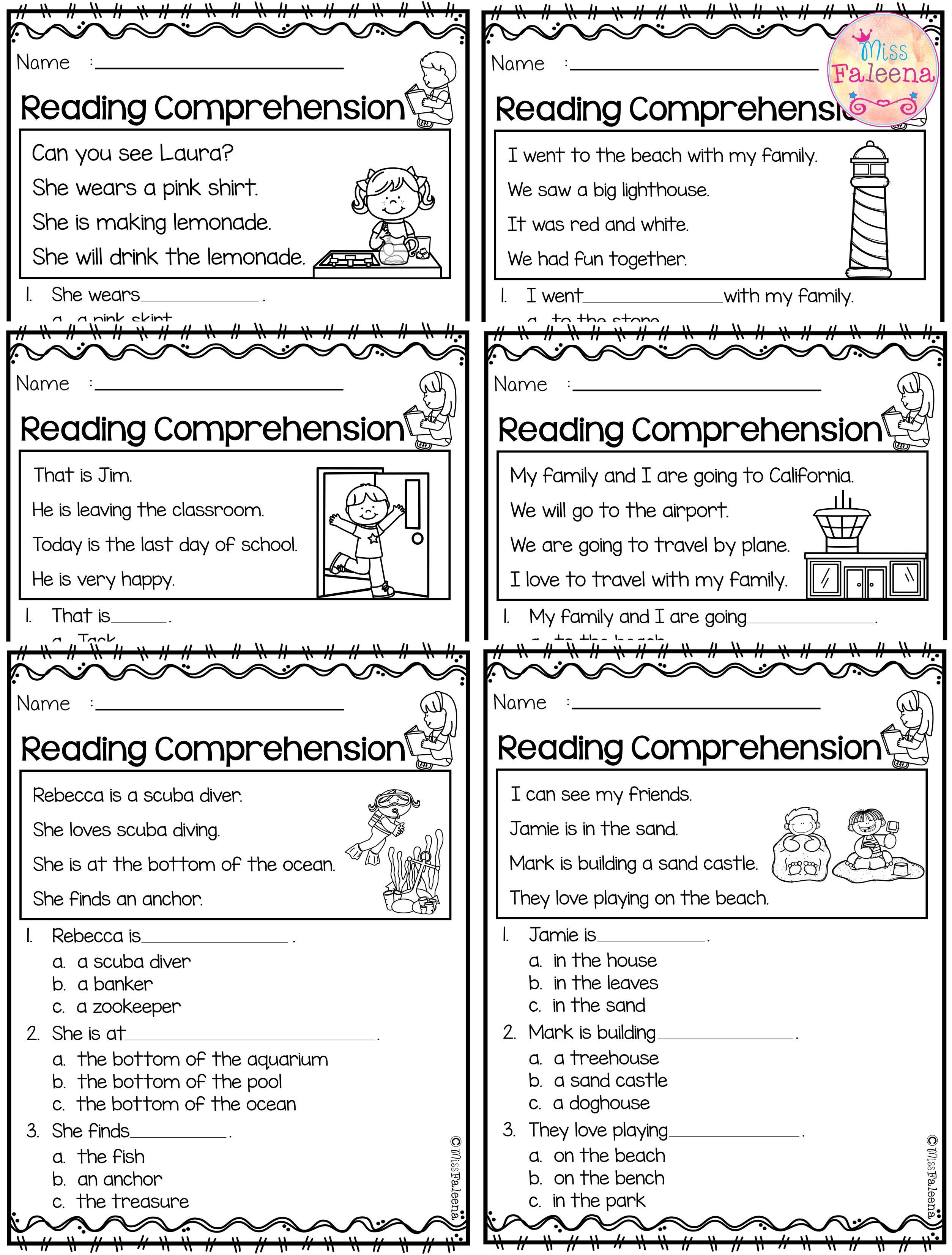 Making Friends Worksheets Kindergarten June Reading Prehension