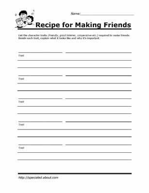 Making Friends Worksheets Kindergarten Printable Worksheets for Kids to Help Build their social