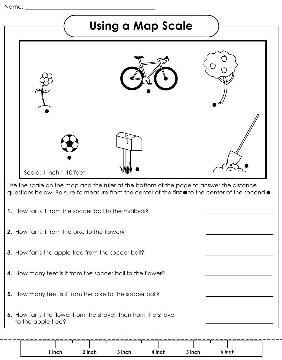 Map Scale Worksheet 3rd Grade Map with Scale Worksheets