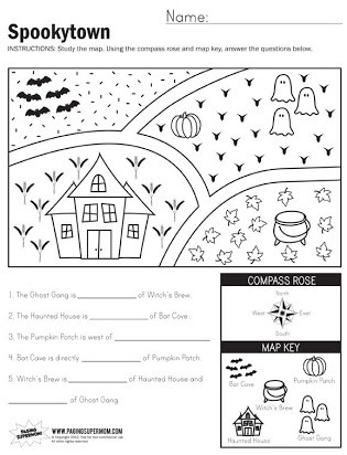 Map Worksheet 2nd Grade Free Map Skills Worksheets Second Grade