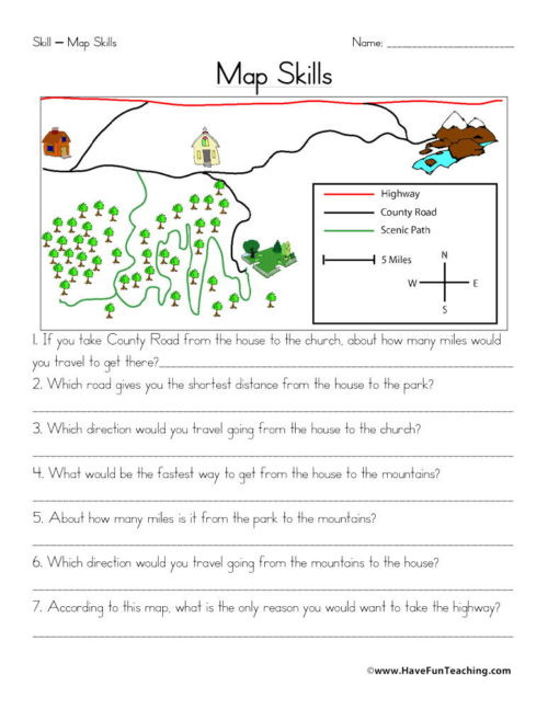 Map Worksheet 2nd Grade Maps Worksheets • Have Fun Teaching