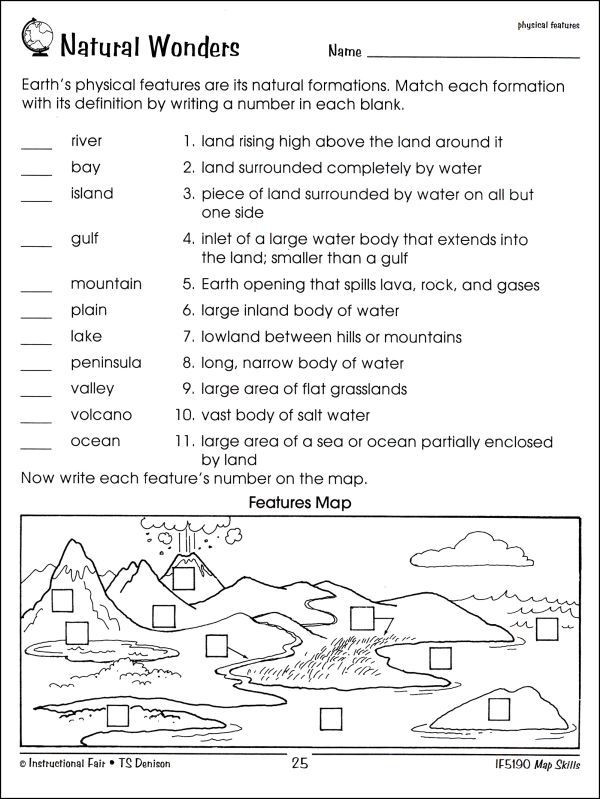 Maps Worksheets 2nd Grade Map Skills 2nd Grade Worksheets In 2020