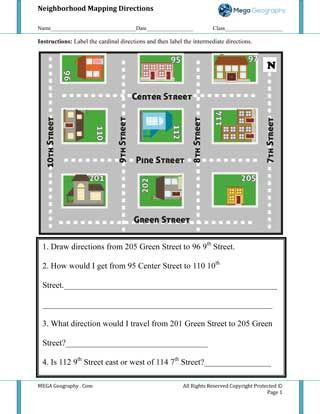 Maps Worksheets 2nd Grade Munity Maps for Kids Worksheet Neighborhood Mega