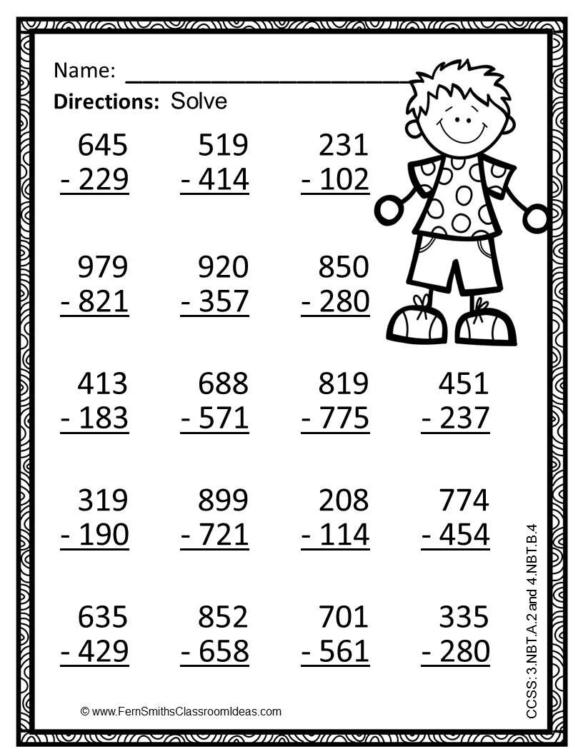 Math Coloring Worksheets 3rd Grade Third Grade Math Coloring Worksheets 3rd Go Use Place Value