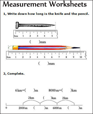 Measurement Worksheet 3rd Grade Measurement Worksheets Measuring Math Worksheets for Kids