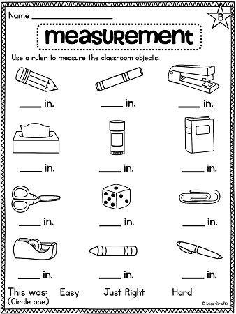 Measurement Worksheets for 2nd Grade Math Measurement Worksheets Grade 2 & Math Worksheets for