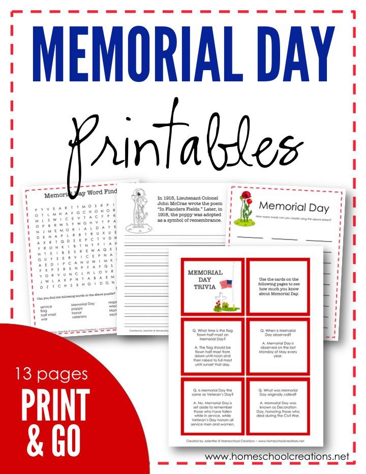 Memorial Day Worksheets Free Printable Lucrative Memorial Day Printable Activities
