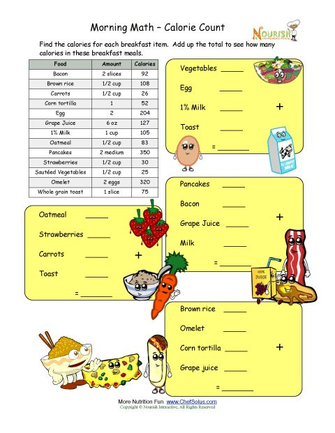 Menu Math Printable Free Menu Math Worksheets & Math Worksheets Thanksgiving
