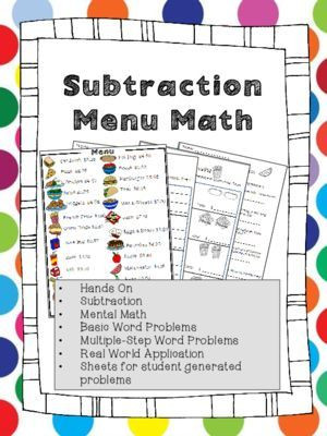 Menu Math Worksheets Printable Free Printable Menu Math Worksheets Math Worksheets Nd