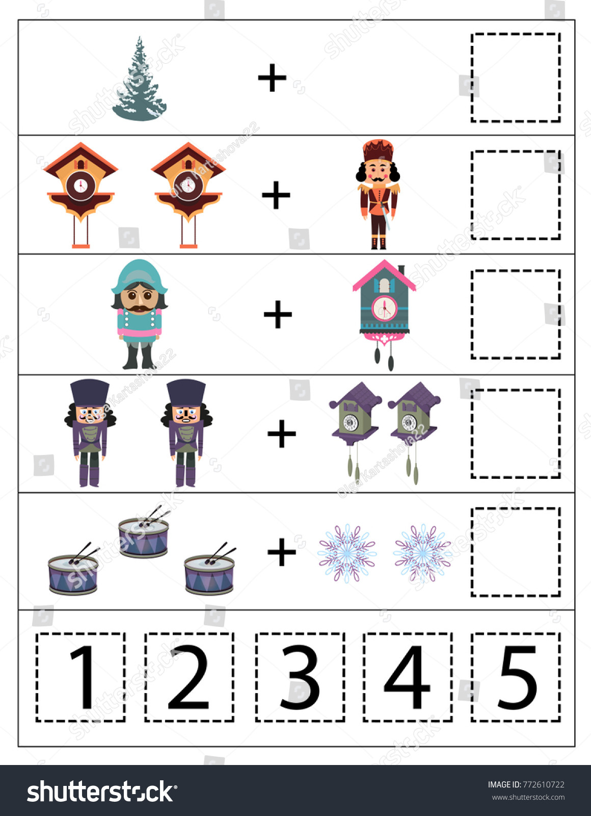 Menu Math Worksheets Printable Math Kindergarten Worksheet Kids Printable Game เวกเตอร์สต็