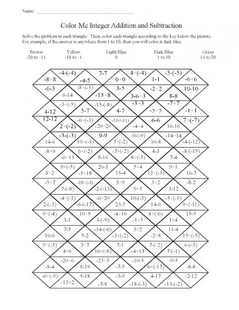 Middle School Math Puzzles Printable Fun School Game Worksheets