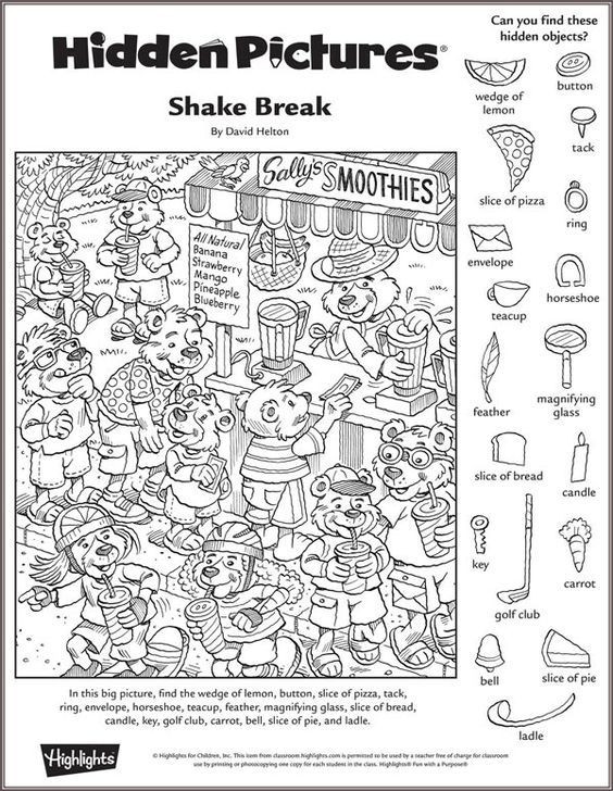 Middle School Math Puzzles Printable Shake Break Hidden Puzzle Highlights Printables