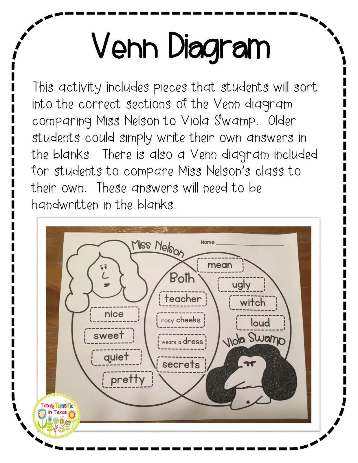 Miss Nelson is Missing Printables 126 Best Miss Nelson Book Activities Images