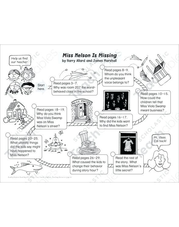 Miss Nelson is Missing Printables Miss Nelson is Back Printable – Goodaction