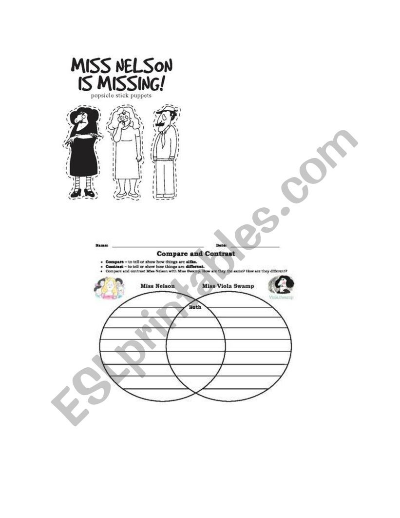 Miss Nelson is Missing Printables Miss Nelson is Missing Esl Worksheet by Marianuchi