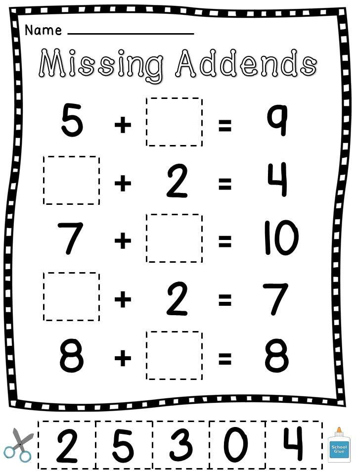 Missing Addend Worksheets 1st Grade Pin On Homeschooling