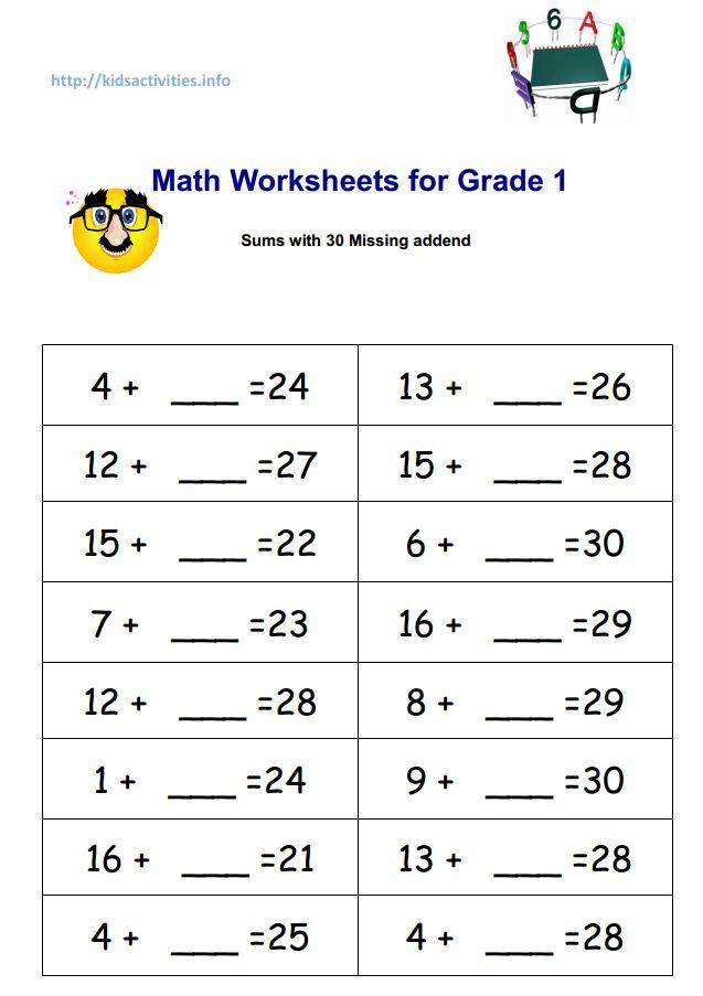 Missing Addend Worksheets Kindergarten Missing Addend Worksheets for Children with Pictures