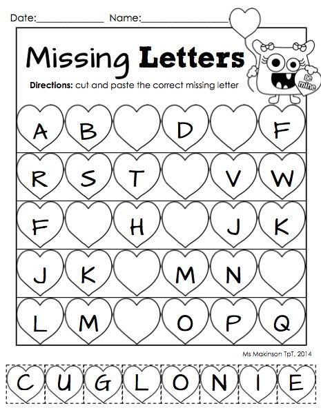 Missing Letter Worksheets for Kindergarten Letters Worksheet for Kindergarten & Letter Worksheets