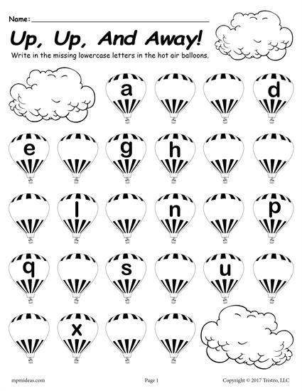 Missing Letter Worksheets for Kindergarten Printable Lowercase Alphabet Worksheet Fill In the Missing
