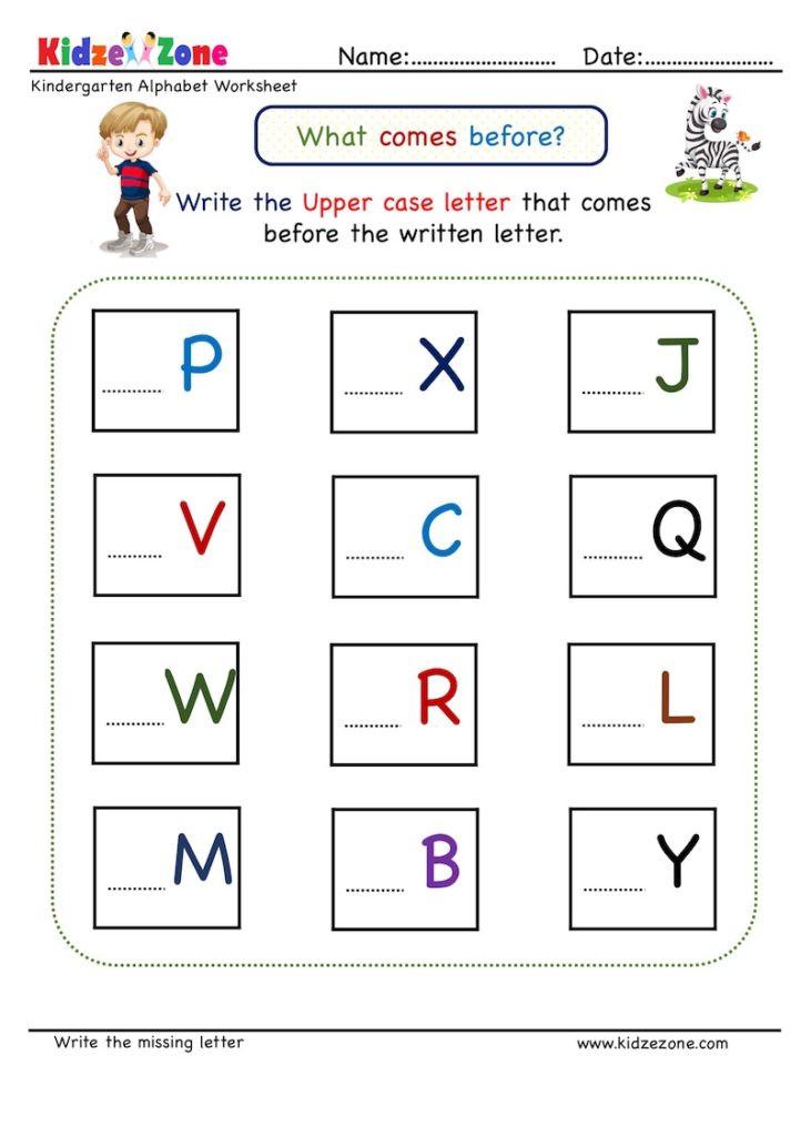 Missing Letters Worksheets for Kindergarten Kindergarten Missing Letter Worksheet Es before