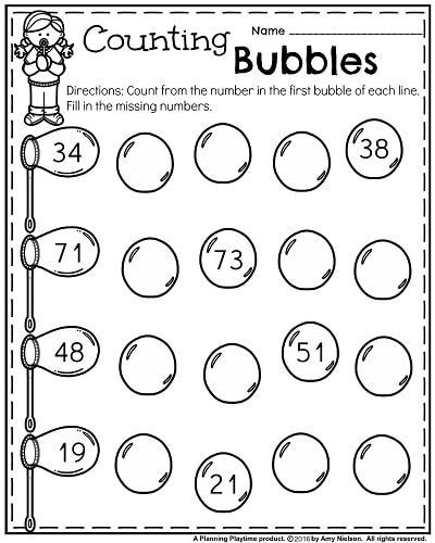 Missing Number Worksheet for Kindergarten Kindergarten Worksheets for May